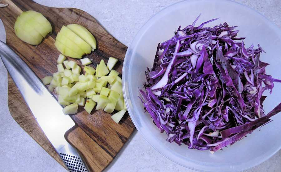 Cabbage and apples