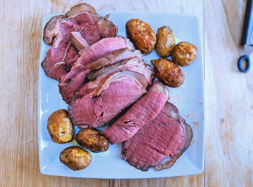 low temperature roasted beef