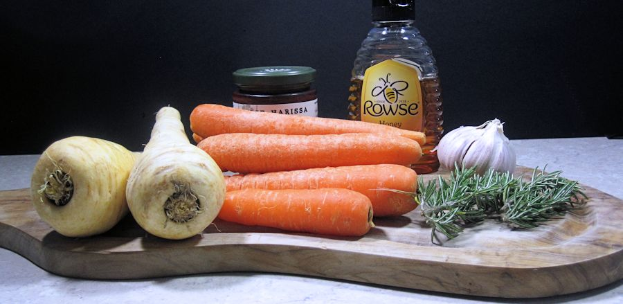 Carrots, parsnips and garlic