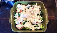 salmon broccoli bake