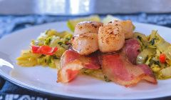scallops with pancetta