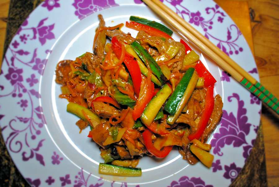 Sizzling beef stir fry