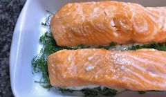 low temperature roasted salmon