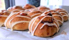sourdough jam buns