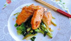 stir fried salmon