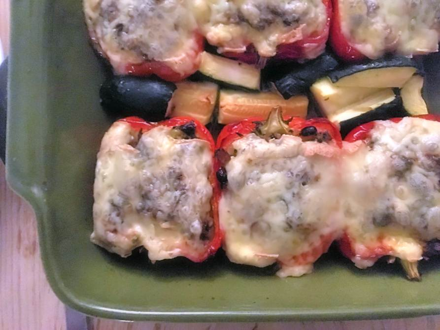roasted peppers stuffed with meat