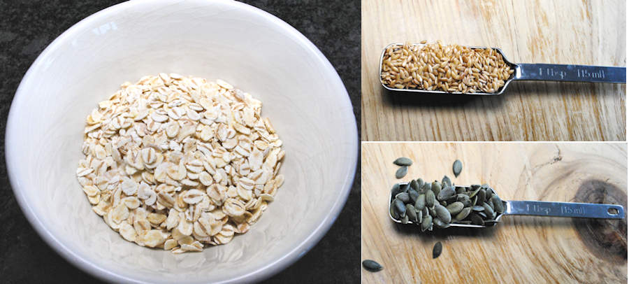 Barley, linseed and pumpkin