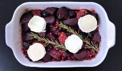 twice roasted beetroot with pomegranate