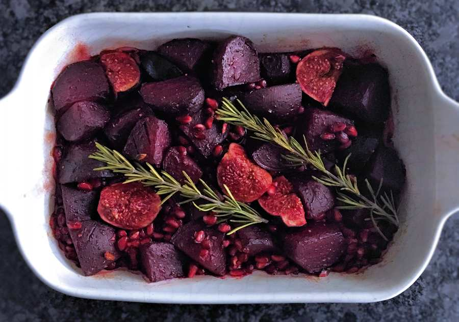 Twice roasted beetroot