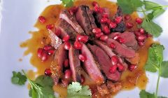 pan fried pigeon breast